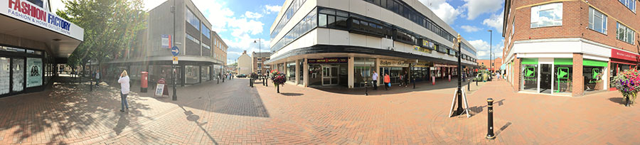 Side Street Busking Location Stafford